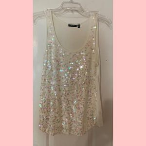 Sheer, Sequined Tank 💕